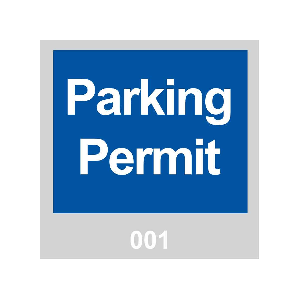 Pack of 100 3 W x 3 H 3 W x 3 H Brady 96236 Vinyl Windshield Decal Pack of 100 301-400 Sequence Brady Worldwide Inc Parking Permit Red