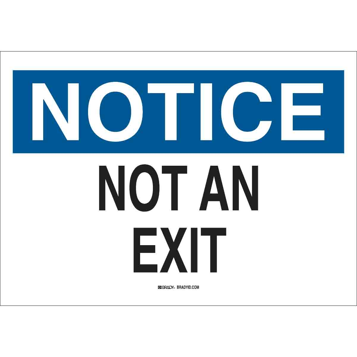 photo regarding Printable Exit Sign named Interest Not An Exit Signal