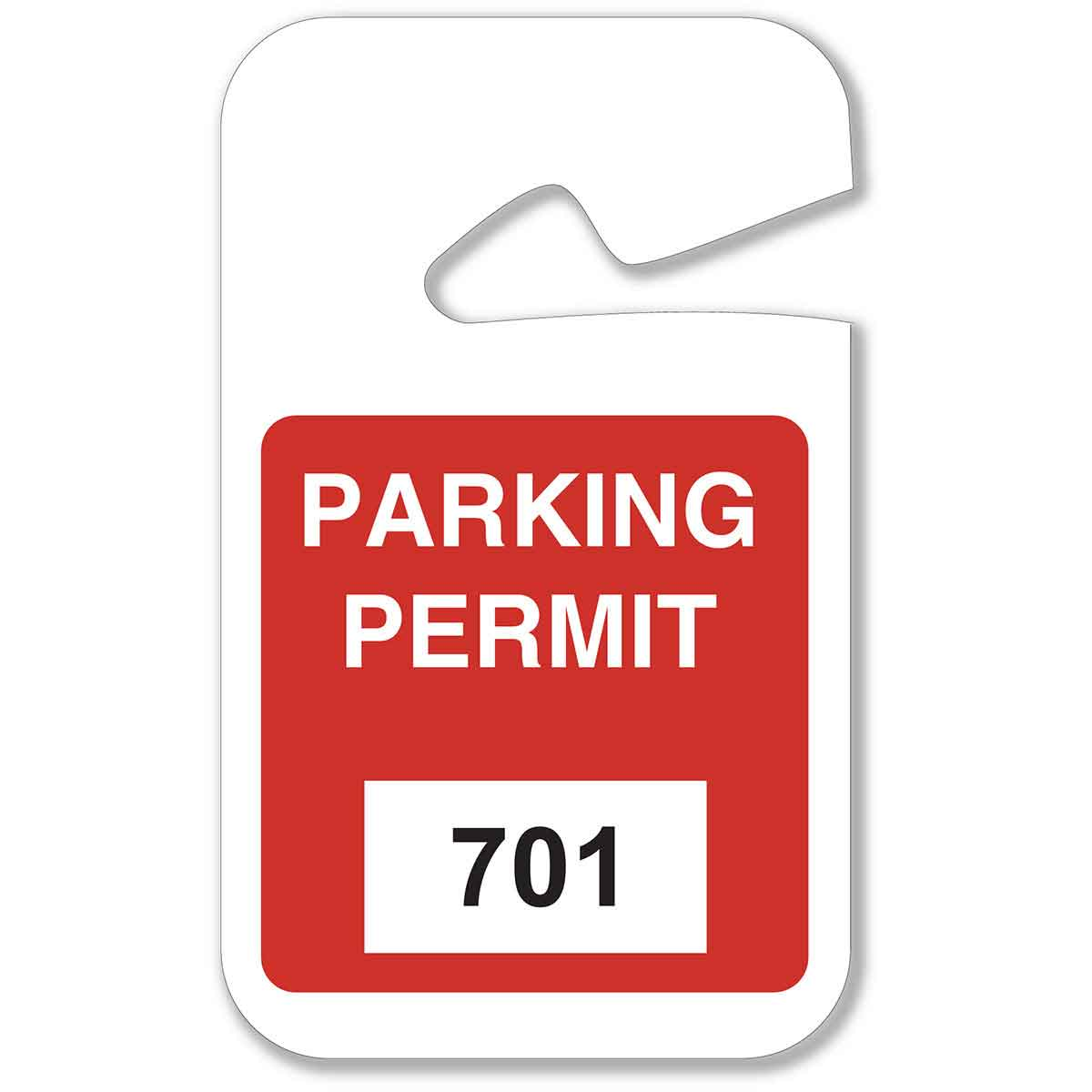 hanging parking pass template - brady part 96277 rearview mirror hanging tags