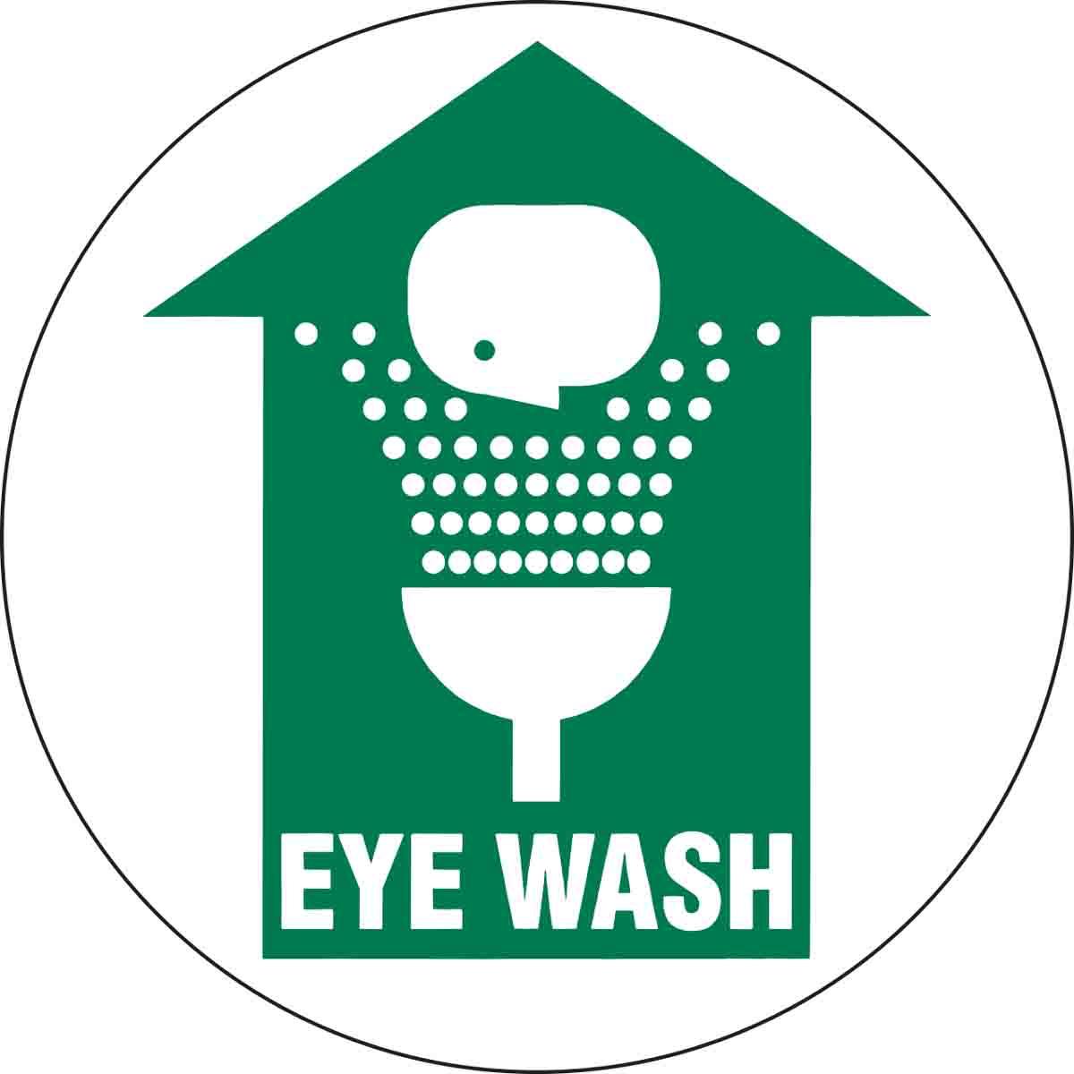 Eye Wash Anti Slip Floor Sign Brady Part 97609 Brady Bradyid Com