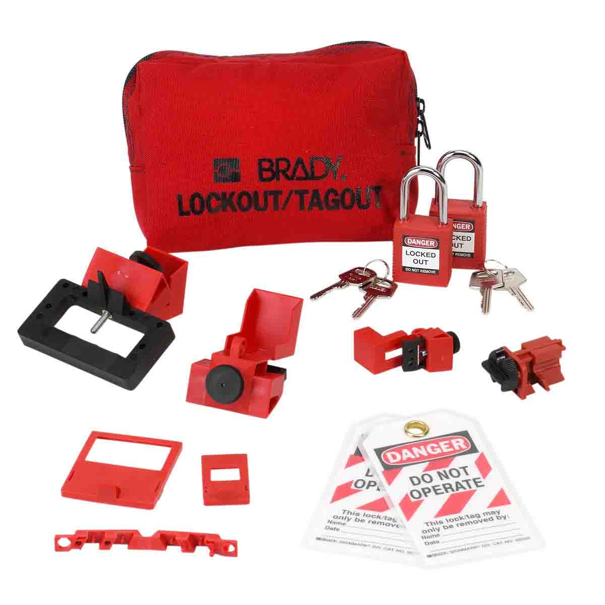 Breaker Lockout Sampler Pouch Kit with 2 Padlocks