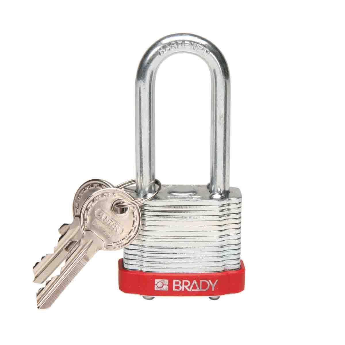 BRADY 99524 BRADY LOCK, STEEL, 2.0IN KD RED