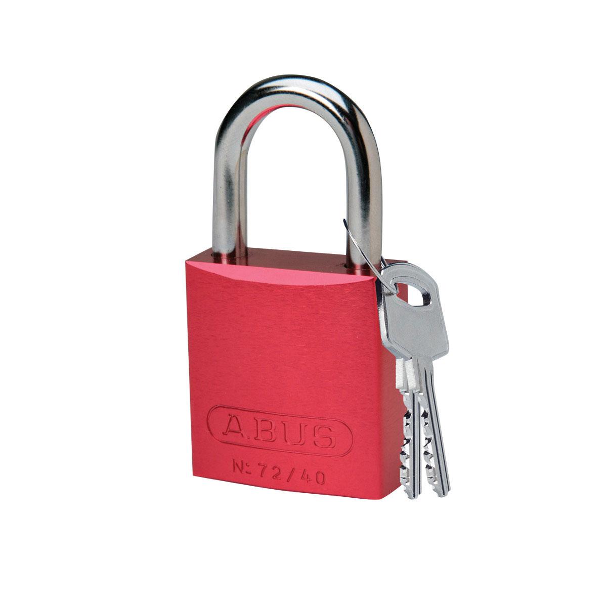 BRADY 99608 Abus Aluminum Padlock 1In Kd Red