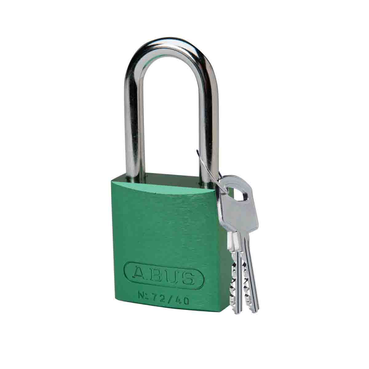 BRADY 99617 Abus Aluminum Padlock,1.5 In Kd Green