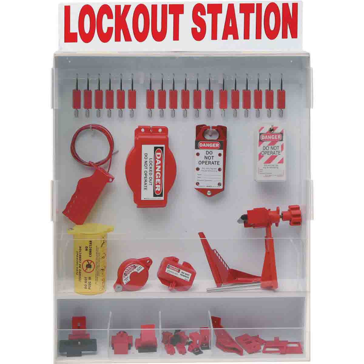 Brady Part: 99696 | Extra Large Enclosed Lockout Station ...