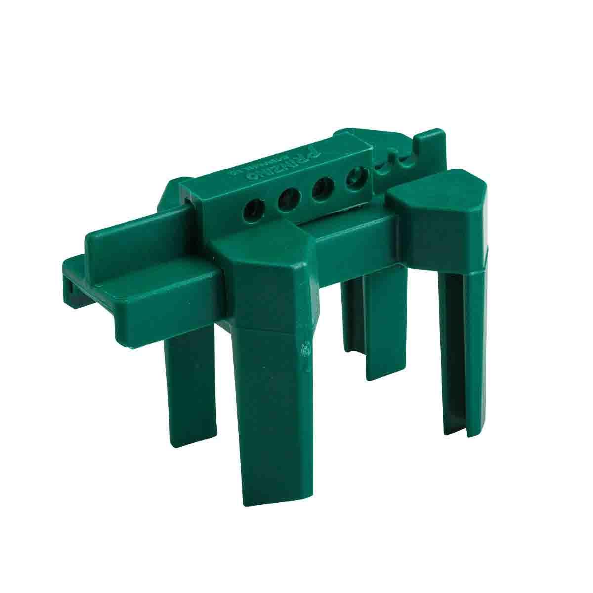 ball valve lockout. brady part: bs07a-gn   45343 4-legged ball valve lockout bradyid.com