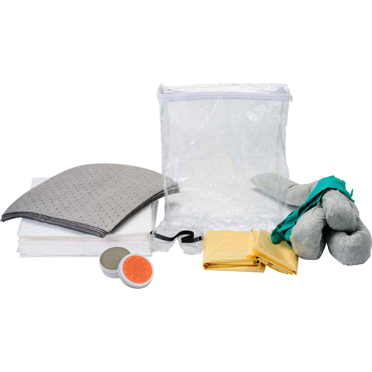 BRADY BSCSK-CB CLEAR BAG MIXED APPVEHICLE SPILL KIT