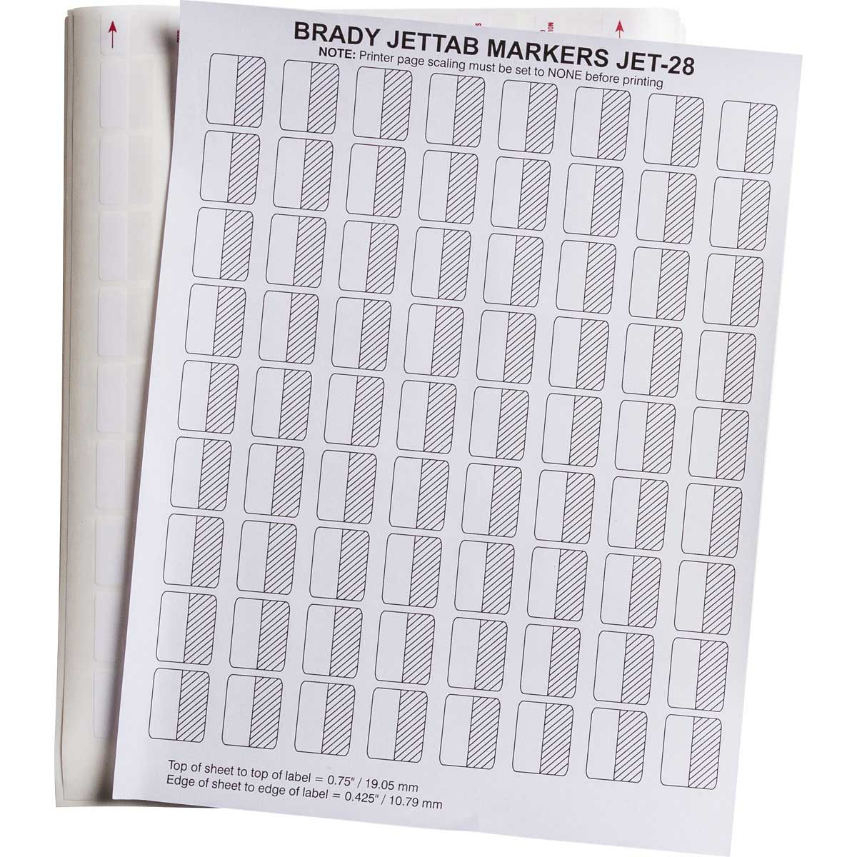 Brady part jet 28 117 3 ink jet printable labels for Brady label templates