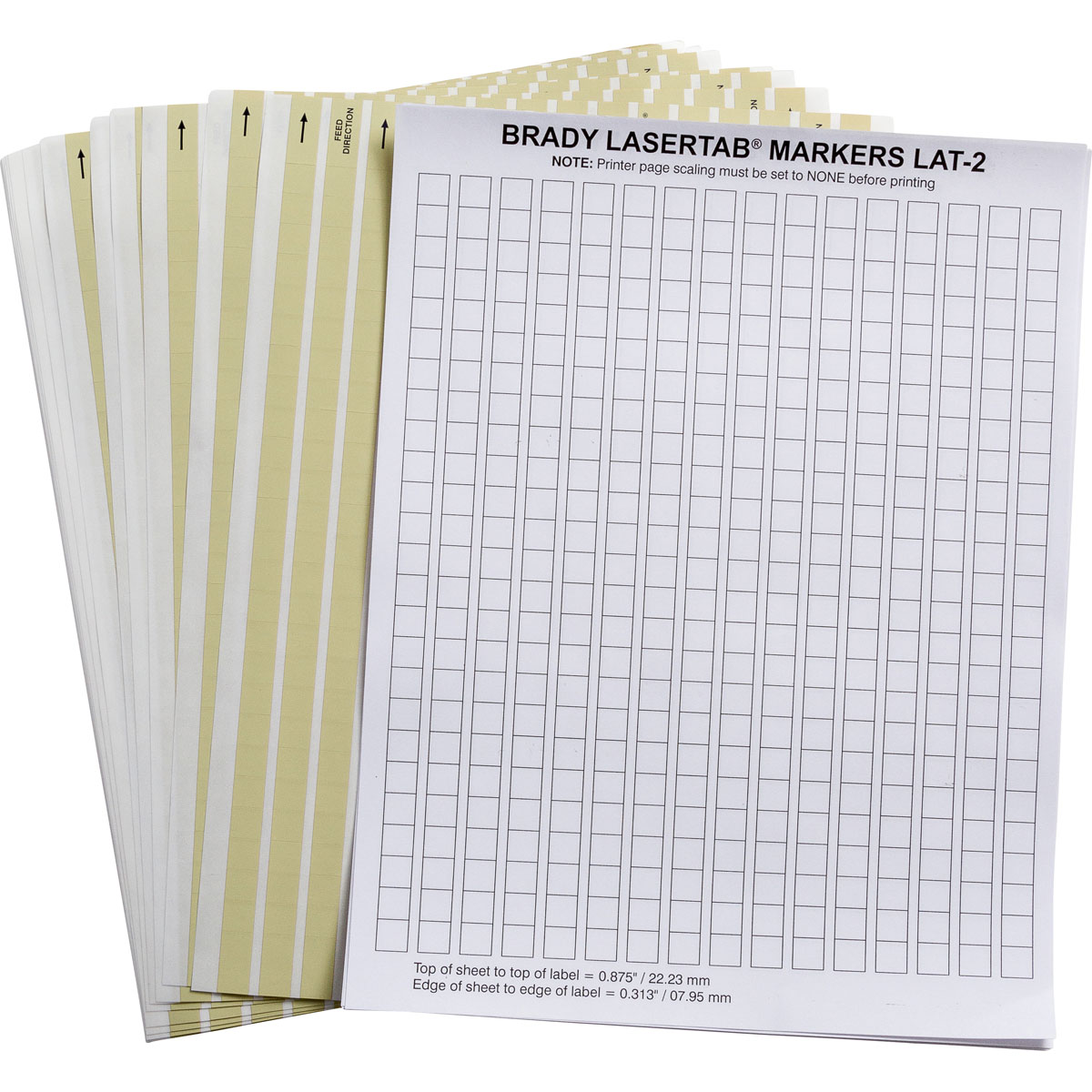 Brady part lat 2 652 10 laser printable labels for Brady label templates