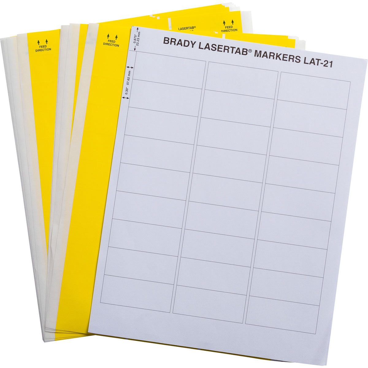Brady part lat 21 747 1 yl lasertab laser printable labels for Brady label templates