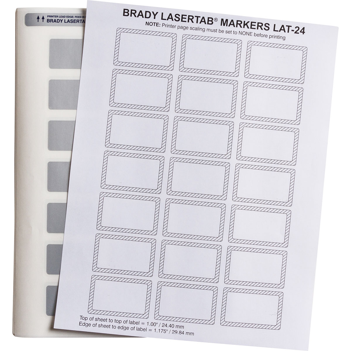 Brady part lat 24 773 1 permashield laser printable labels for Brady label templates
