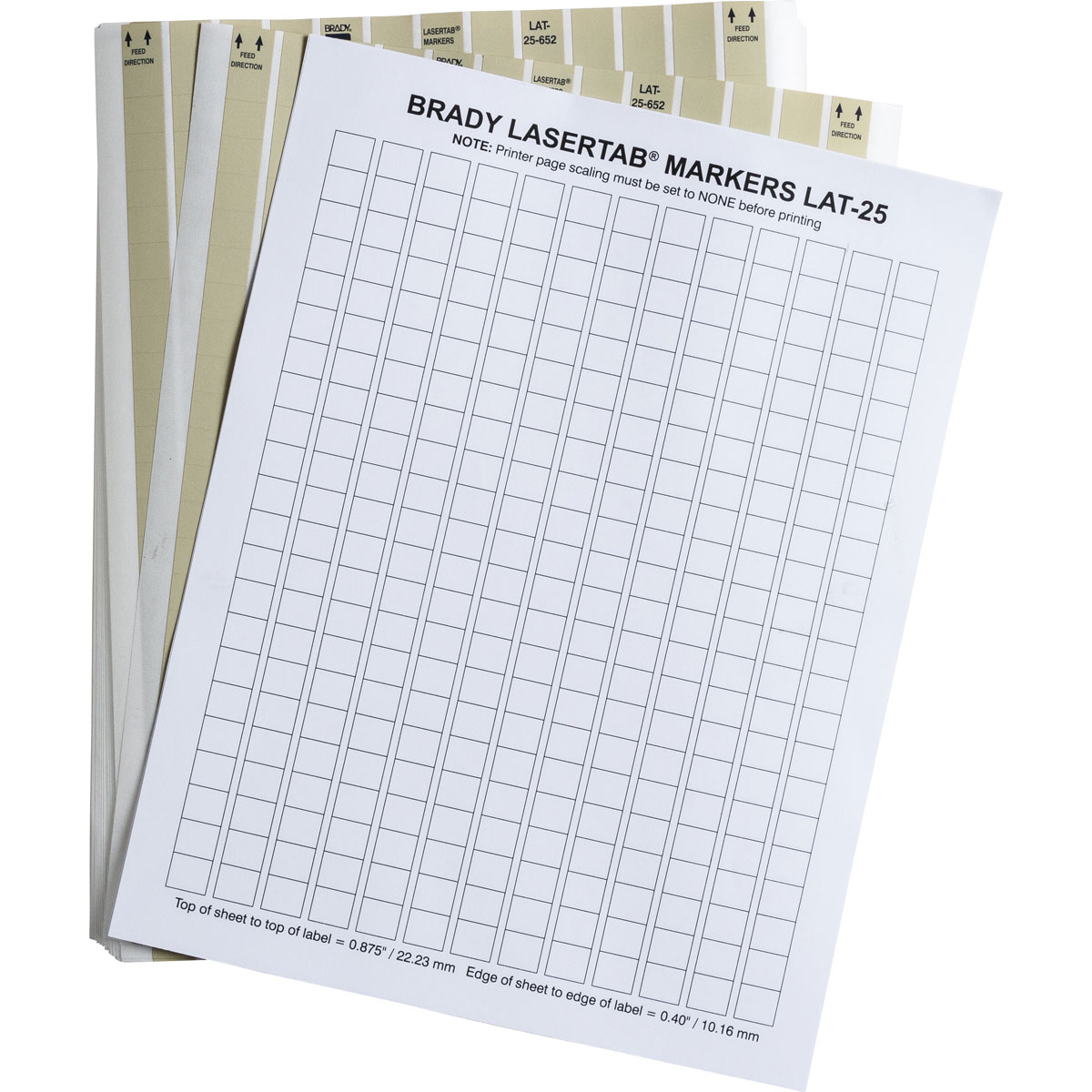 Brady part lat 25 652 10 laser printable labels for Brady label templates