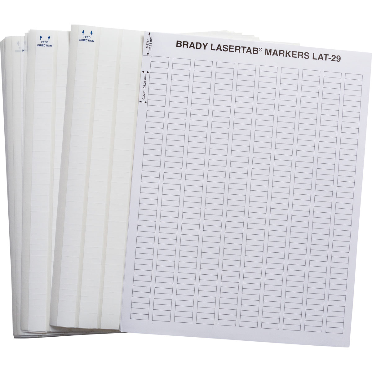 Brady part lat 29 747 10 lasertab laser printable labels for Brady label templates