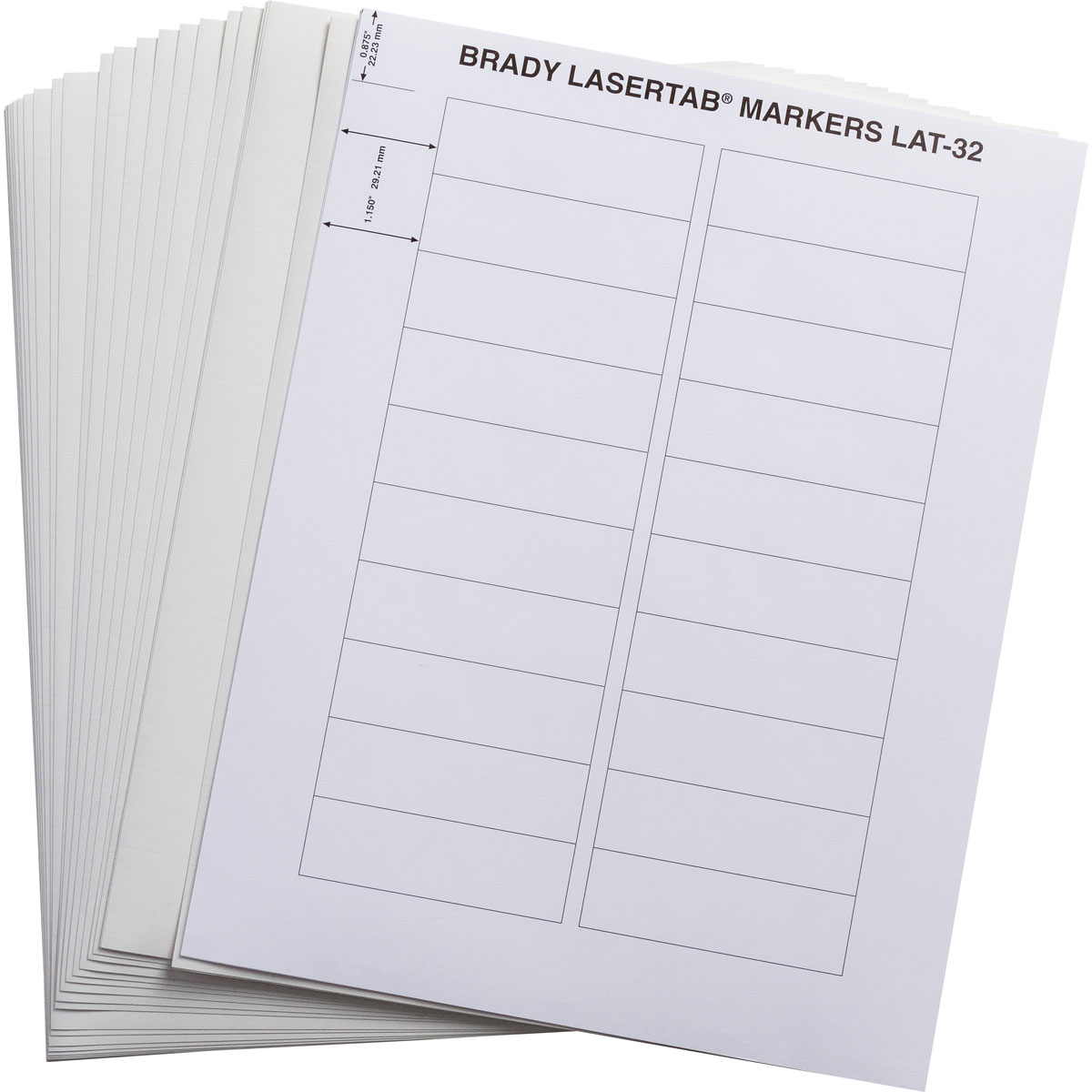 brady label templates - brady part lat 32 759 1 lasertab laser printable labels