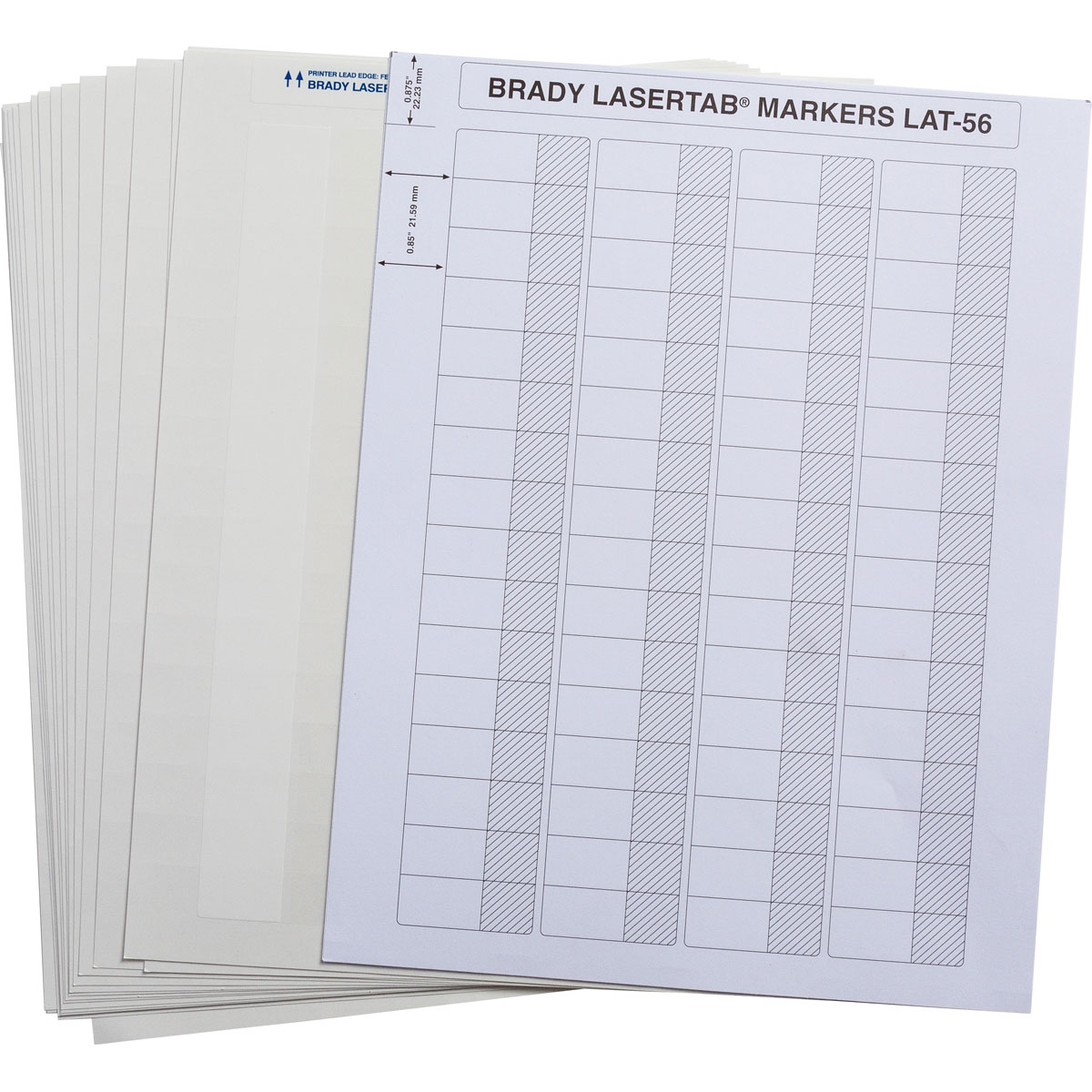 Brady part lat 56 361 2 5 laser printable labels for Brady label templates