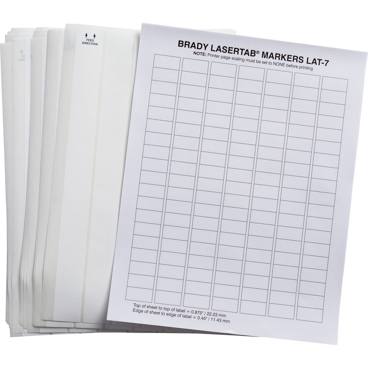 Brady part lat 7 707 10 lasertab laser printable labels for Brady label templates