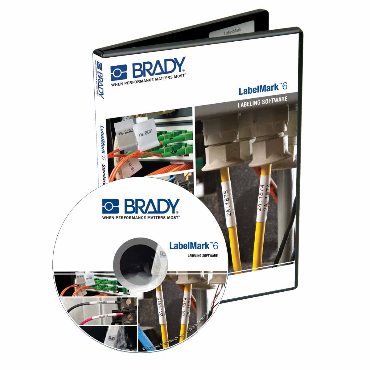 Brady Part Lm6proe 139819 Labelmark 6 Professional Software Home Bmp21 Hand Held Label Printer Electrical Kit