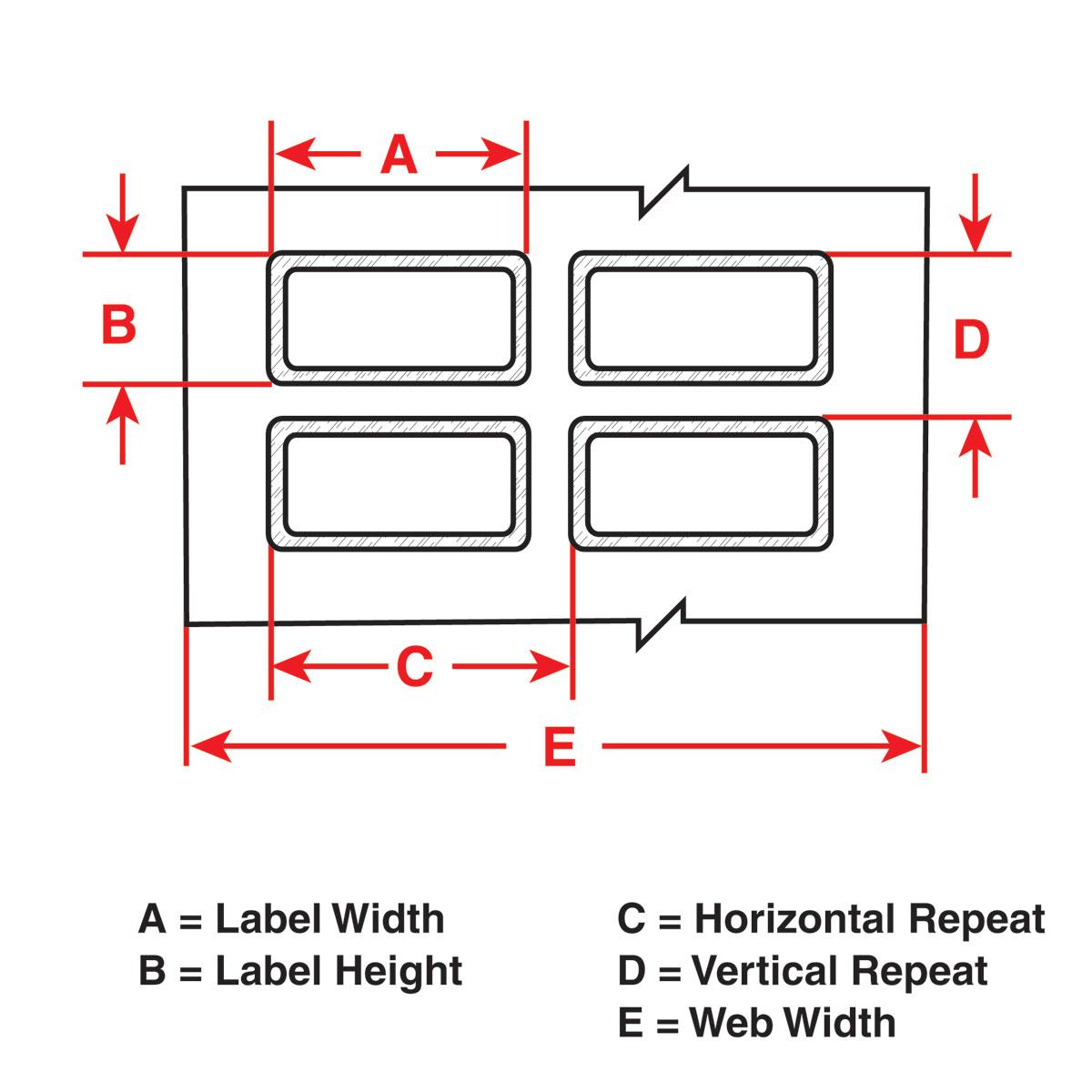 Brady part tht 22 423 2 permashield thermal transfer for Brady label templates