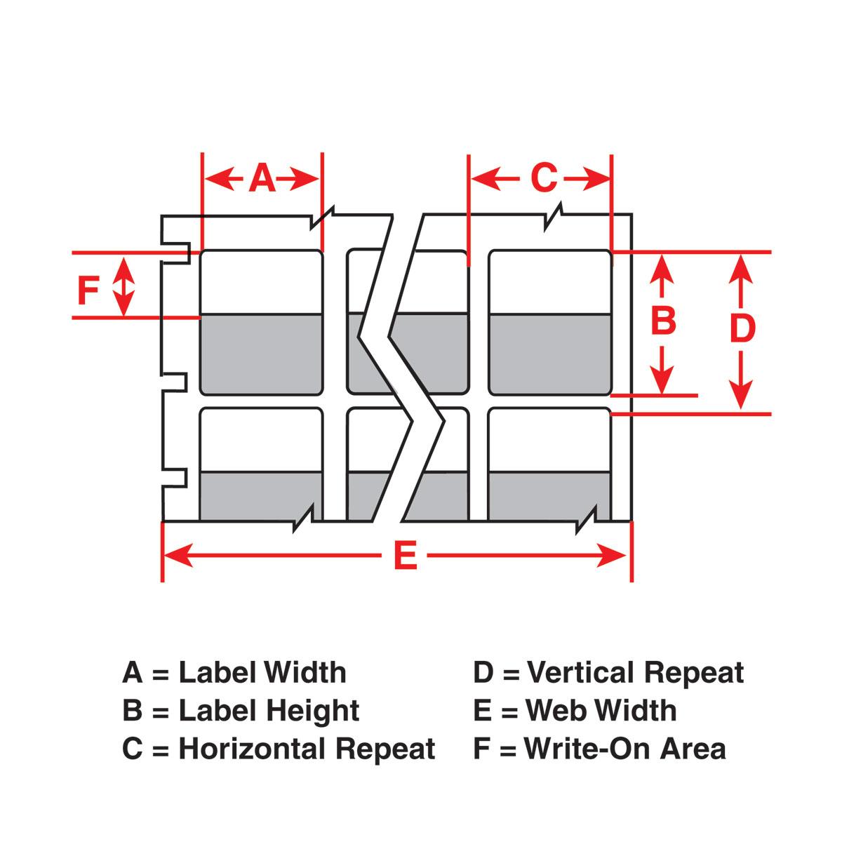 brady label templates - brady part tht 80 427 2 5 sc thermal transfer printable