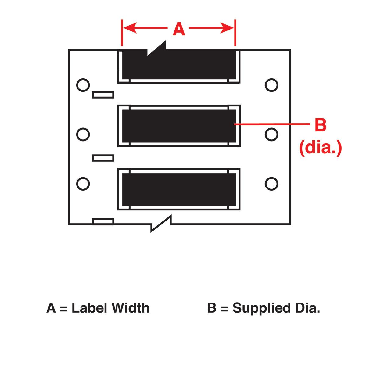 Wire Mkr,THT,B342,.375x1.5,Blk,1000EA/RL