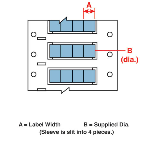 Wire Mkr,THT,B7642 Dbl,.75x.5,Bl,1000/RL