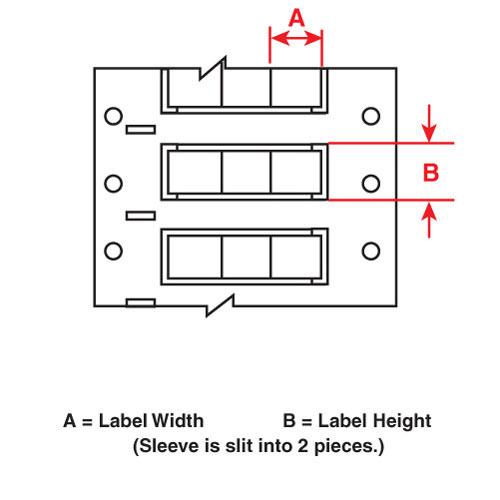 Wire Mkr,THT,B7642Db,.094x.67,Bk,7500/RL