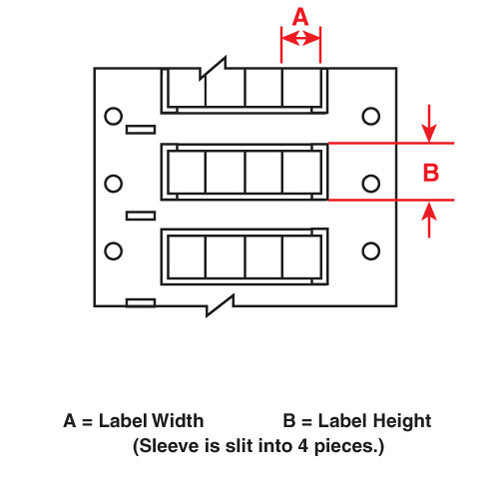 Wire Mkr,THT,B7641,.125x.5,Wht,10000/RL
