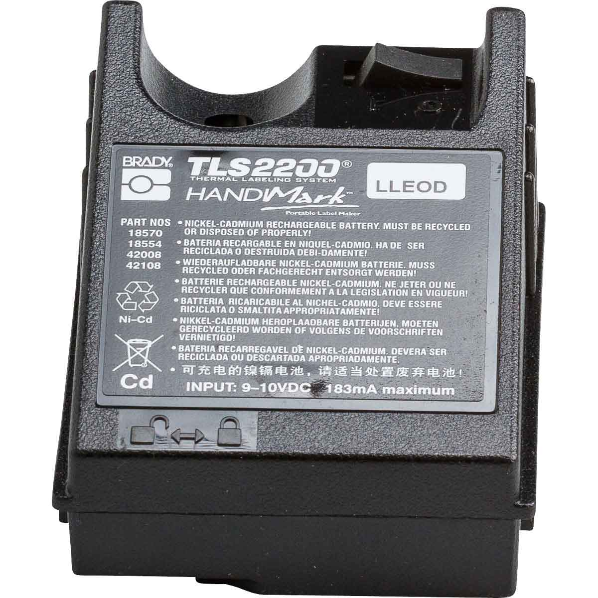 Brady Part M Batt 18554 Handimark Or Tls 2200 Simple Ni Cad Battery Charger With Little Parts Rechargeable Pack