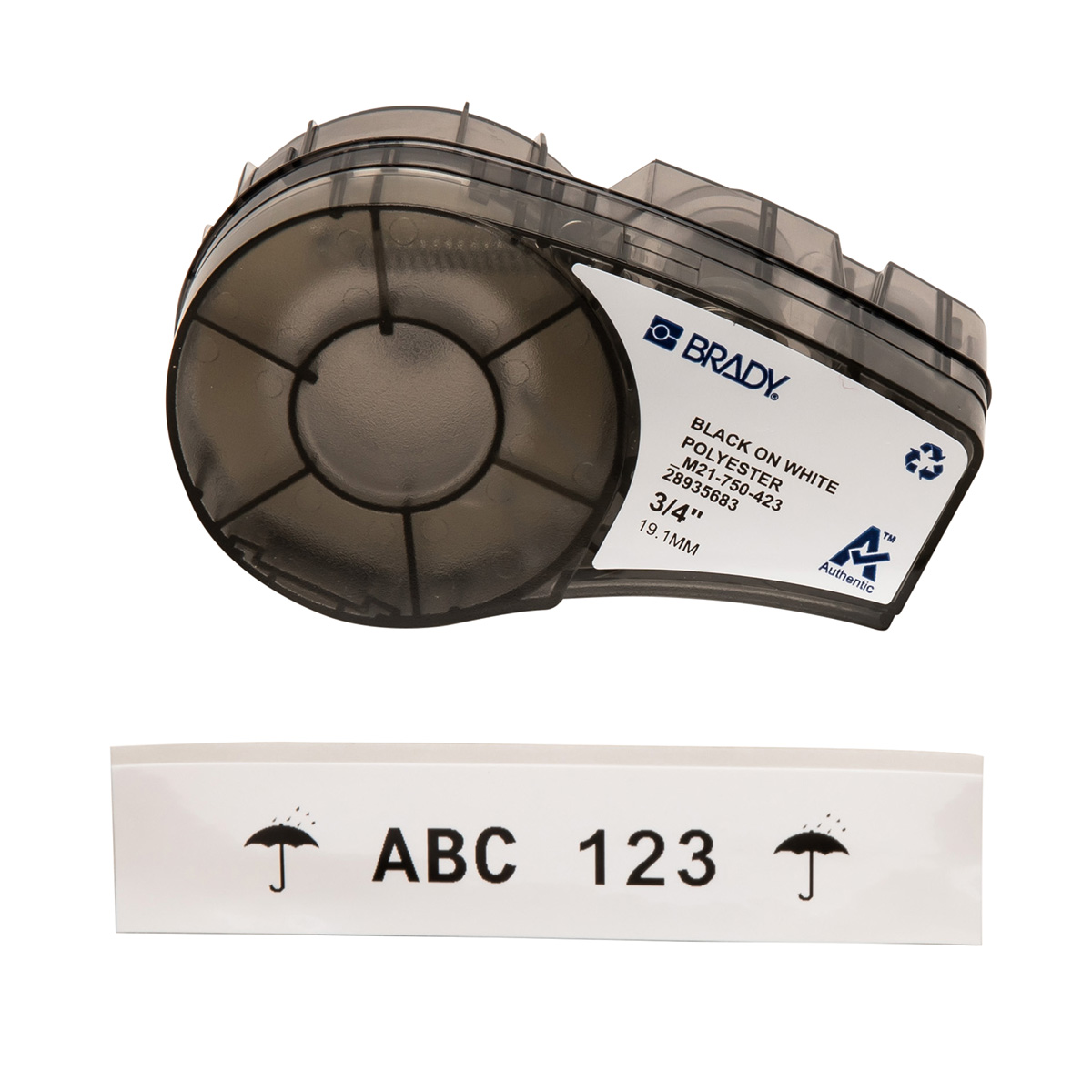 Brady Part M21 750 423 110898 21 Series Workhorse White How To Build A Smart Automotive Circuit Breaker Permanent Solution Polyester Labels