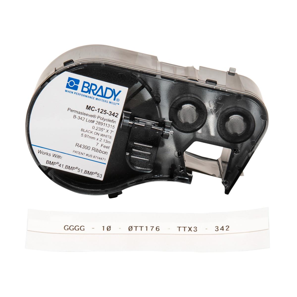 """BRADY MC-125-342 Mseries B342 Wht0.235""""X7' 1 Roll"""
