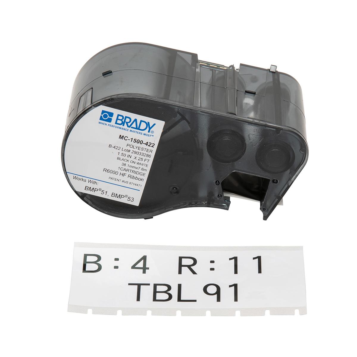 Label Making Continuous Brady M21-125-C-342 Label Tape Cartridge ...