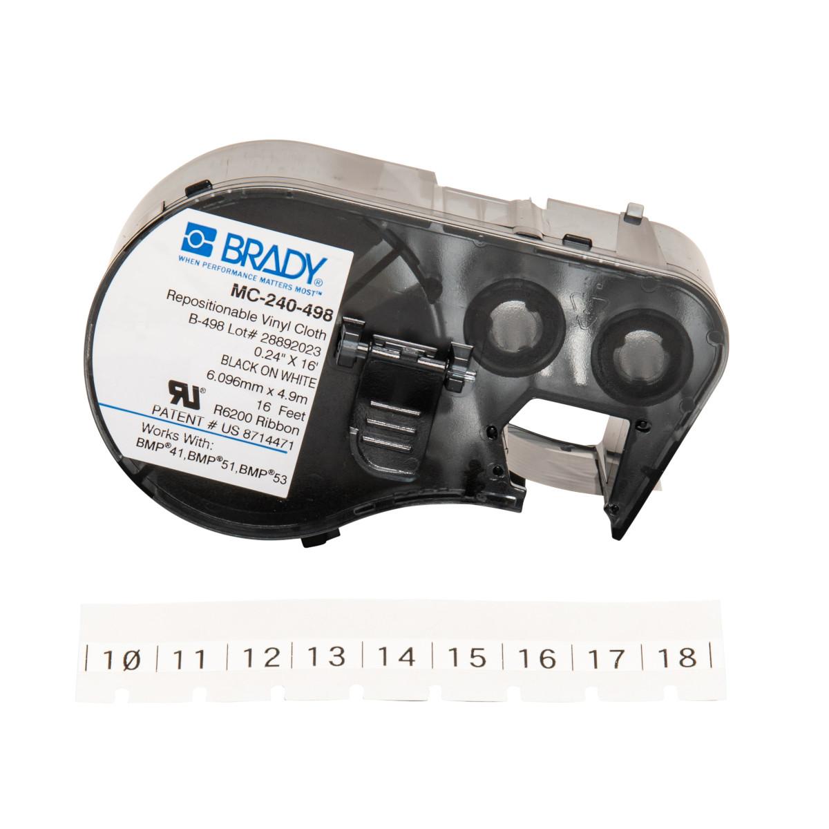 """BRADY MC-240-498 Mseries B498 Wht0.24""""X16' 1 Roll"""