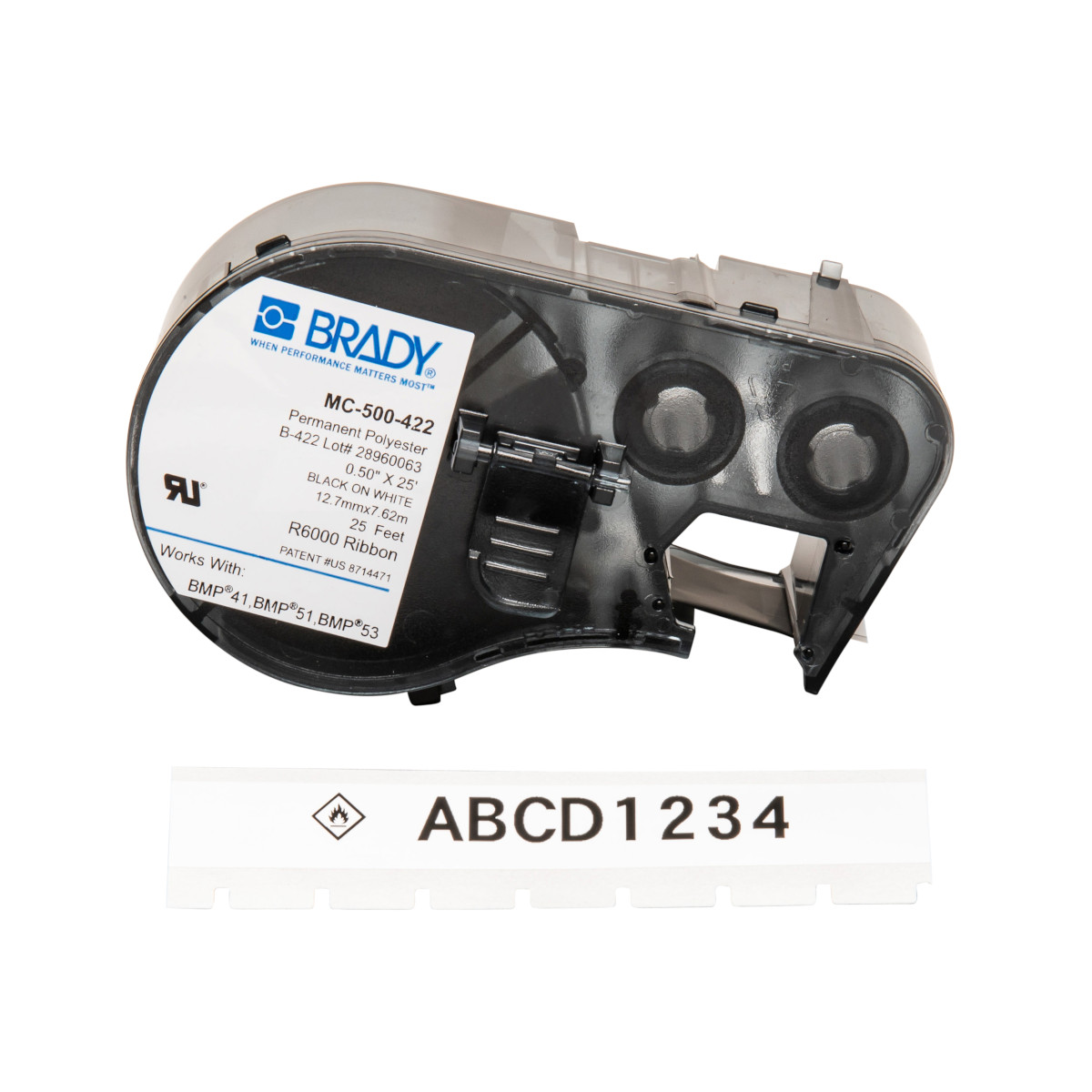 "BRADY MC-500-422 Mseries B422 White0.50""X25' 1 Roll Hf"