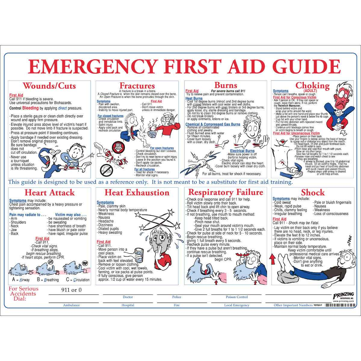 photograph about Printable First Aid Guides named 1st Guidance Exercising Poster