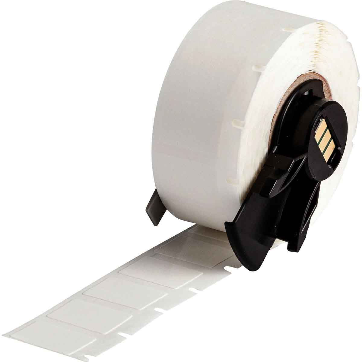 "Brady PTL-11-498 White Repositionable Vinyl Cloth Labels for TLS2200 / TLS-PC Link Printers, .50"" x .75"" label, 16-10ga wire"