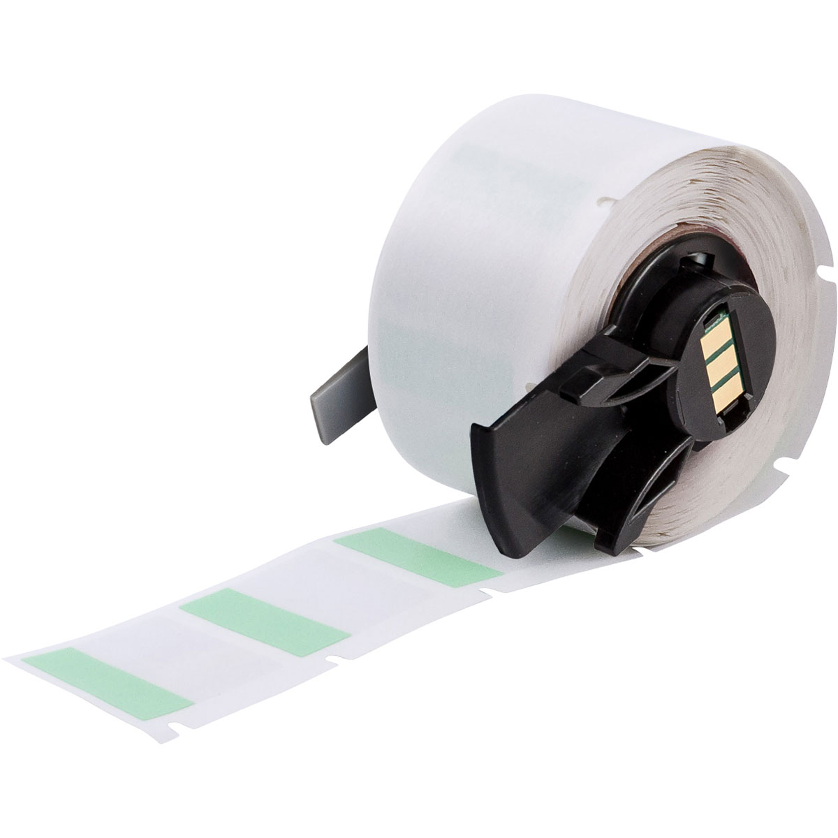 "Brady PTL-19-427-GR Green Self-Laminating Vinyl Labels for TLS2200 / TLS-PC Link Printers, 1"" x 1"" label, 12-10ga wire"