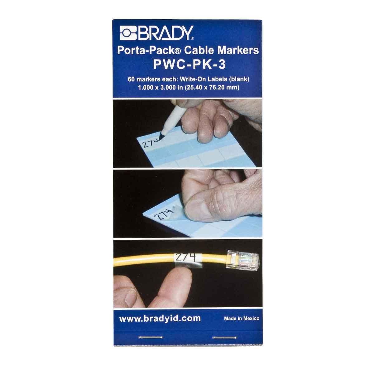 BRADY PWC-PK-3 WRITE-ON CBL MARKER