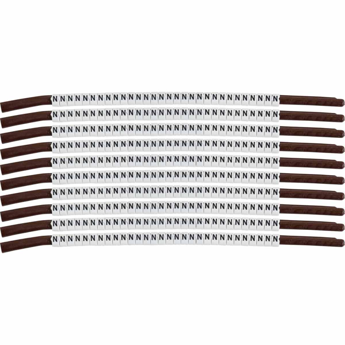 BRADY SCN15-N WireMkr,ClipSlv,N,SCN15,30/WD,10WD/PK