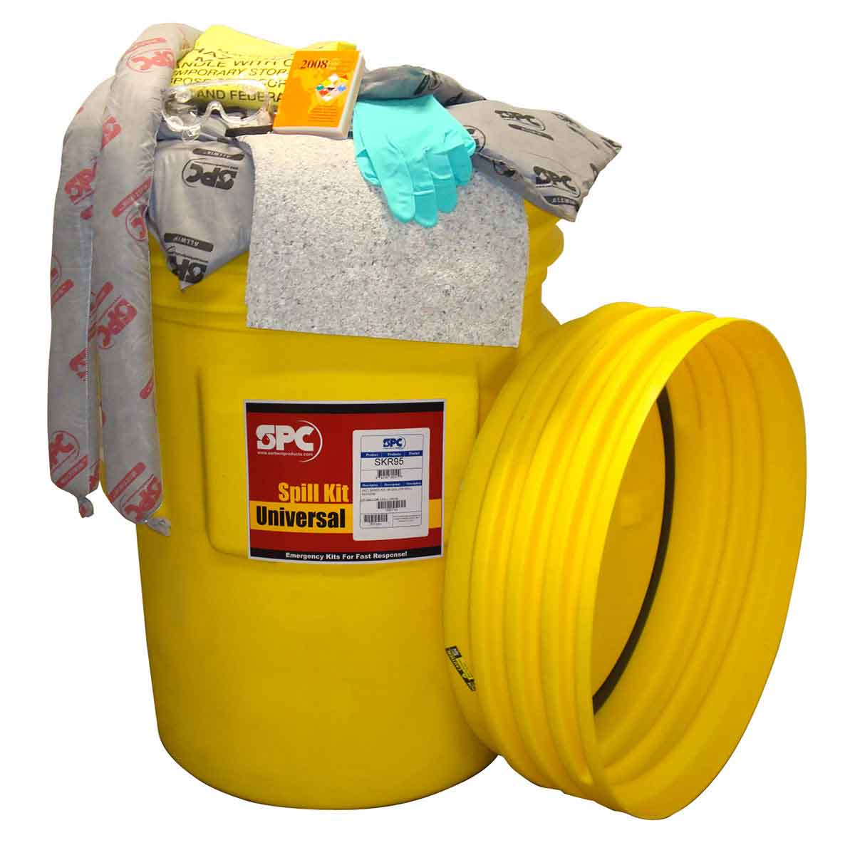 BRADY SKR-95 Spill Kit, 95GA Drum,Univ,1 KT