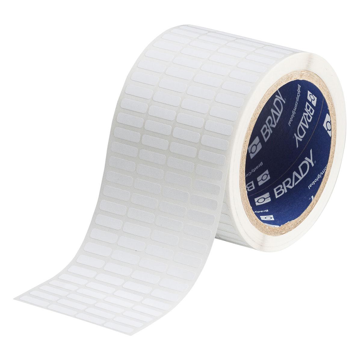 Brady THT-14-351-10 0.65 Width x 0.2 Height 10000 per Roll Matte Finish White Thermal Transfer Printable Labels Brady Worldwide Inc. B-351 Tamper-Resistant Vinyl