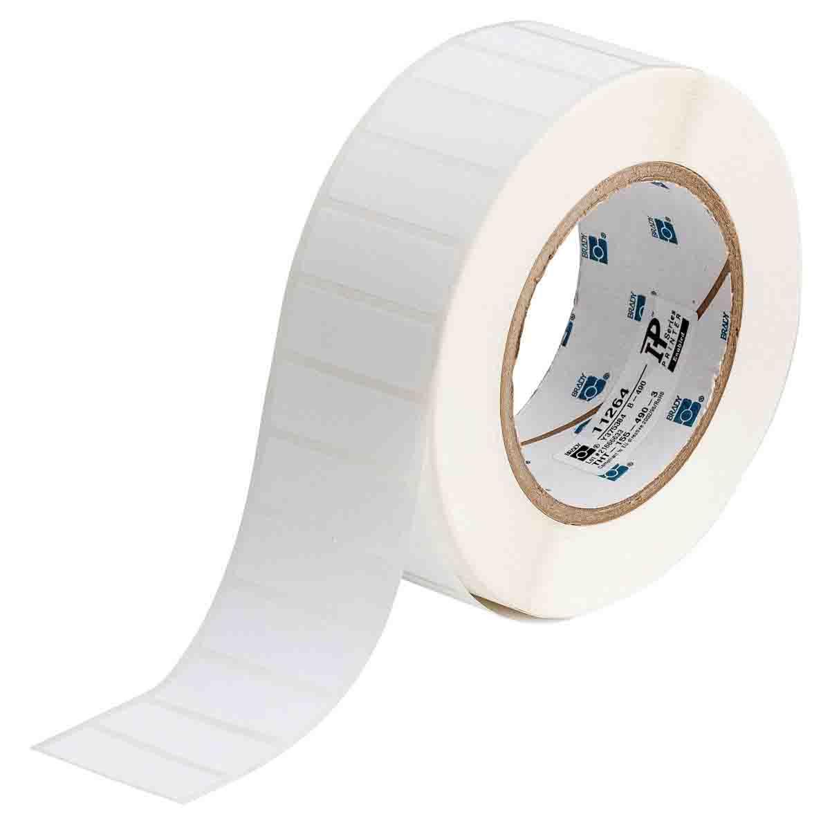 White 0.650 Width x 0.200 Height Brady THT-14-498-5-SC Thermal Transfer Printer Labels