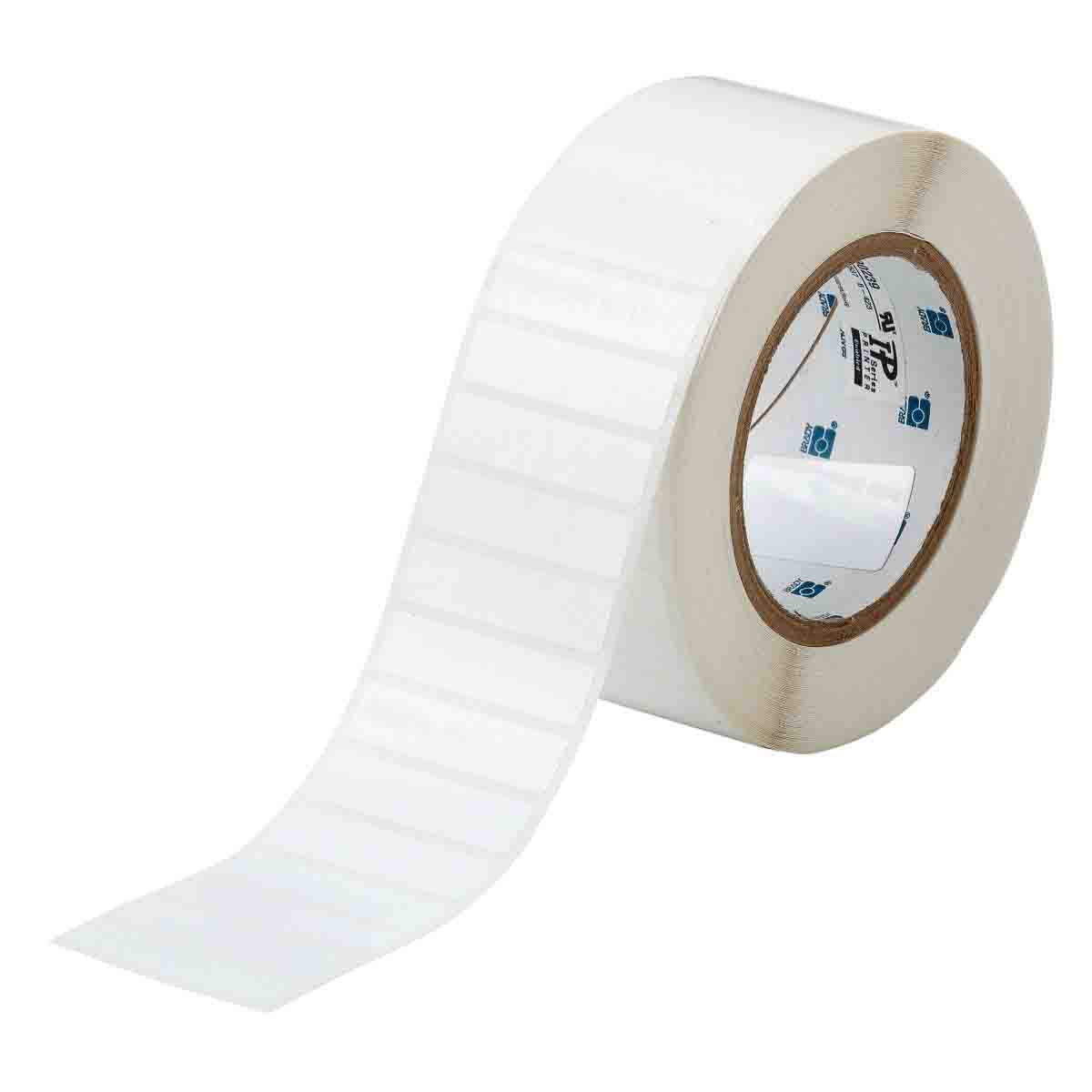 B-423 Permanent Polyester Gloss Finish White Thermal Transfer Printable Label 3000 per Roll Brady THT-18-423-3 3 Width x 1 Height