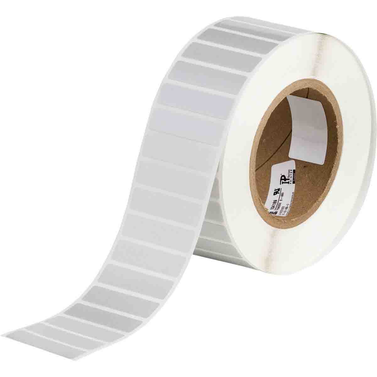 10,000 Labels per Roll, 1 Roll per Package Brady THT-12-438-10 Tamper-Evident Metallized Polyester Thermal Transfer Printable Labels Silver