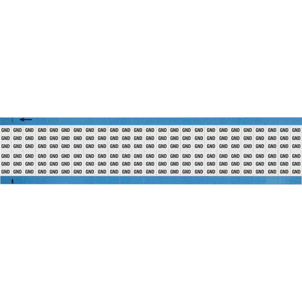 B-500 Machine Tool Symbol Wire Marker Card Black on White 25 Cards Brady WM-1T3-PK Repositionable Vinyl Cloth