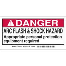 brady part 101520 danger 2 x 4 arc flash shock labels danger. Black Bedroom Furniture Sets. Home Design Ideas