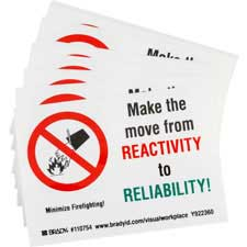 MAKE THE MOVE FROM REACTIVITY TO RELIABILITY! MINIMIZE FIREFIGHTING! Labels