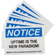 NOTICE UPTIME IS THE NEW PARADIGM! Labels