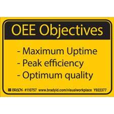 OEE OBJECTIVES MAXIMUM UPTIME - PEAK EFFICIENCY - OPTIMUM QUALITY Labels