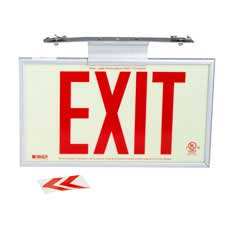 BradyGlo® Semi-Framed 50' Exit Sign-115197
