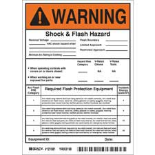 brady part 121081 warning write on hi low risk arc flash labels warning. Black Bedroom Furniture Sets. Home Design Ideas